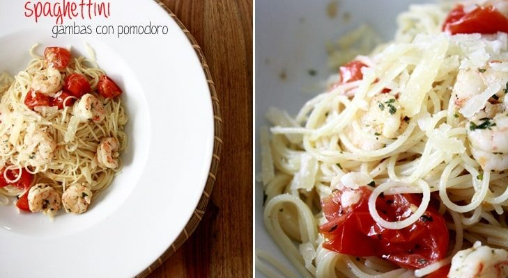 Spaghettini Gambas con Pomodoro
