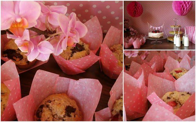 Erdbeer Schoko Muffins mit Kokos