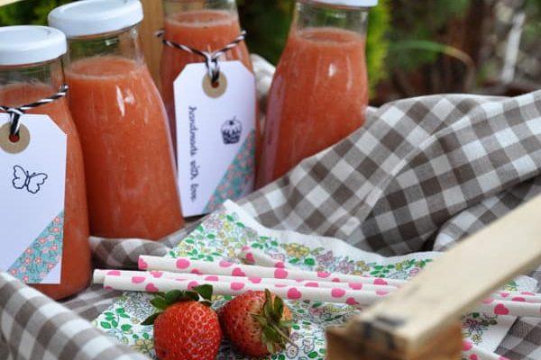 Rharbarber- Erdbeer- Limonade