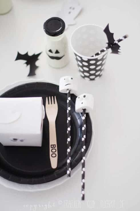 halloween black and white party deko blog von party princess. Black Bedroom Furniture Sets. Home Design Ideas
