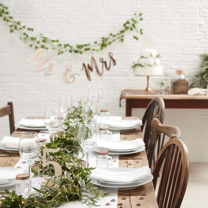 Hochzeits Checkliste Tischdekoration