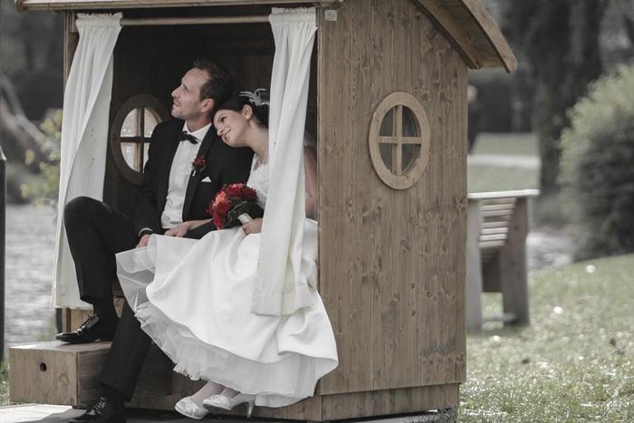 Bild Häuschen Braut und Bräutigam