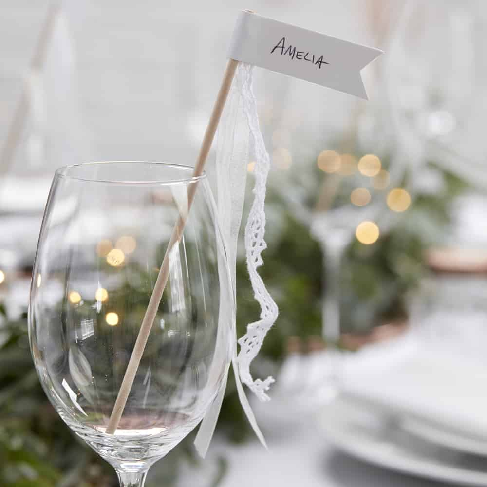 Glasdeka Hochzeit