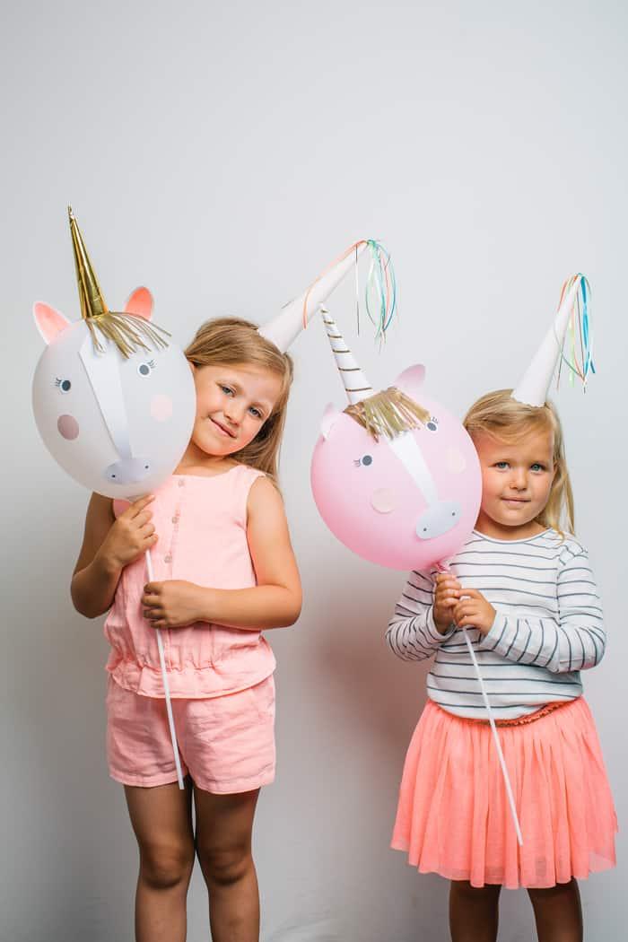 Luftballon Einhorn DIY