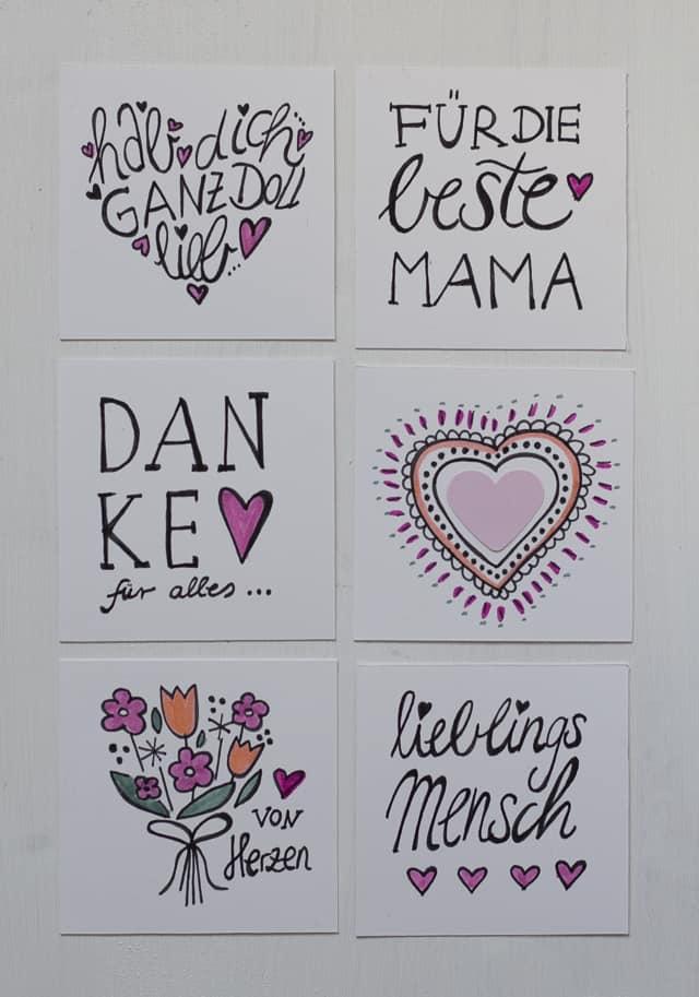 Muttertag DIY Leporello