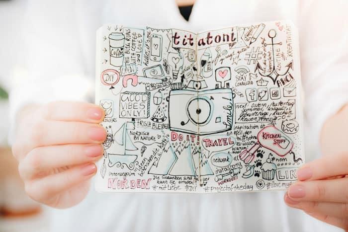 Renate vom Blog Titatoni Sketchnotes
