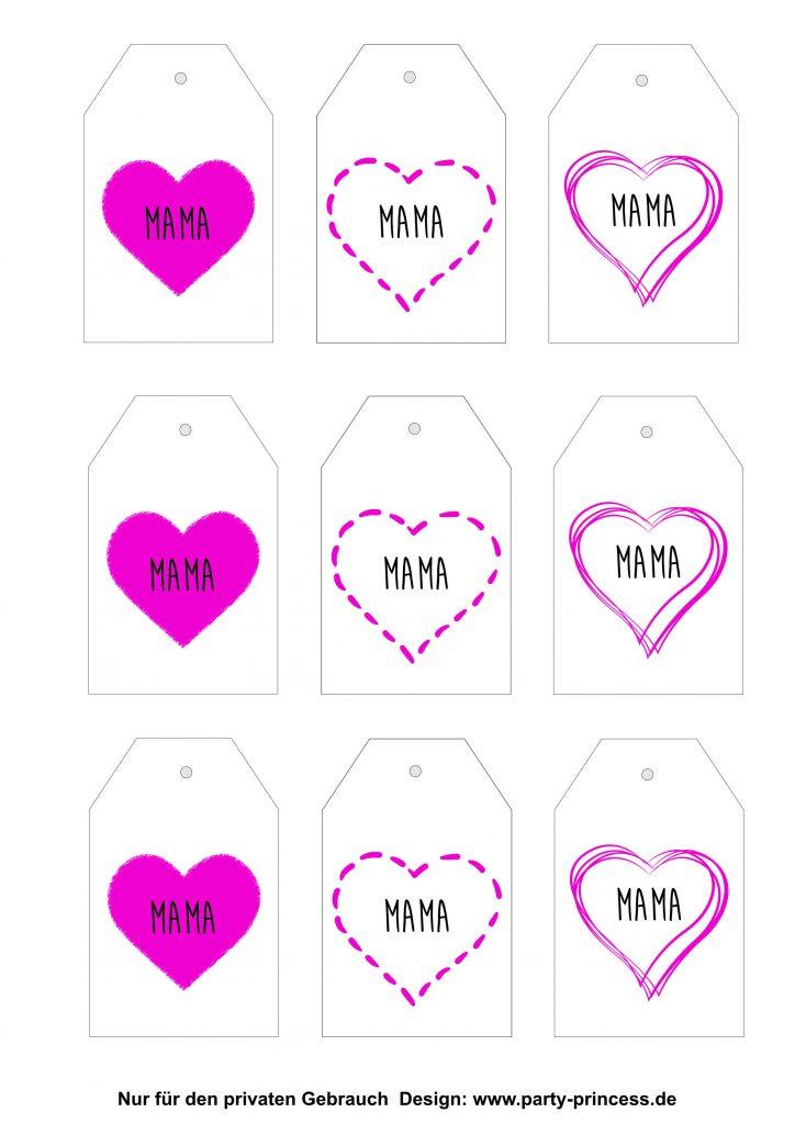 Muttertagskarten zum Ausdrucken > Hier herunterladen