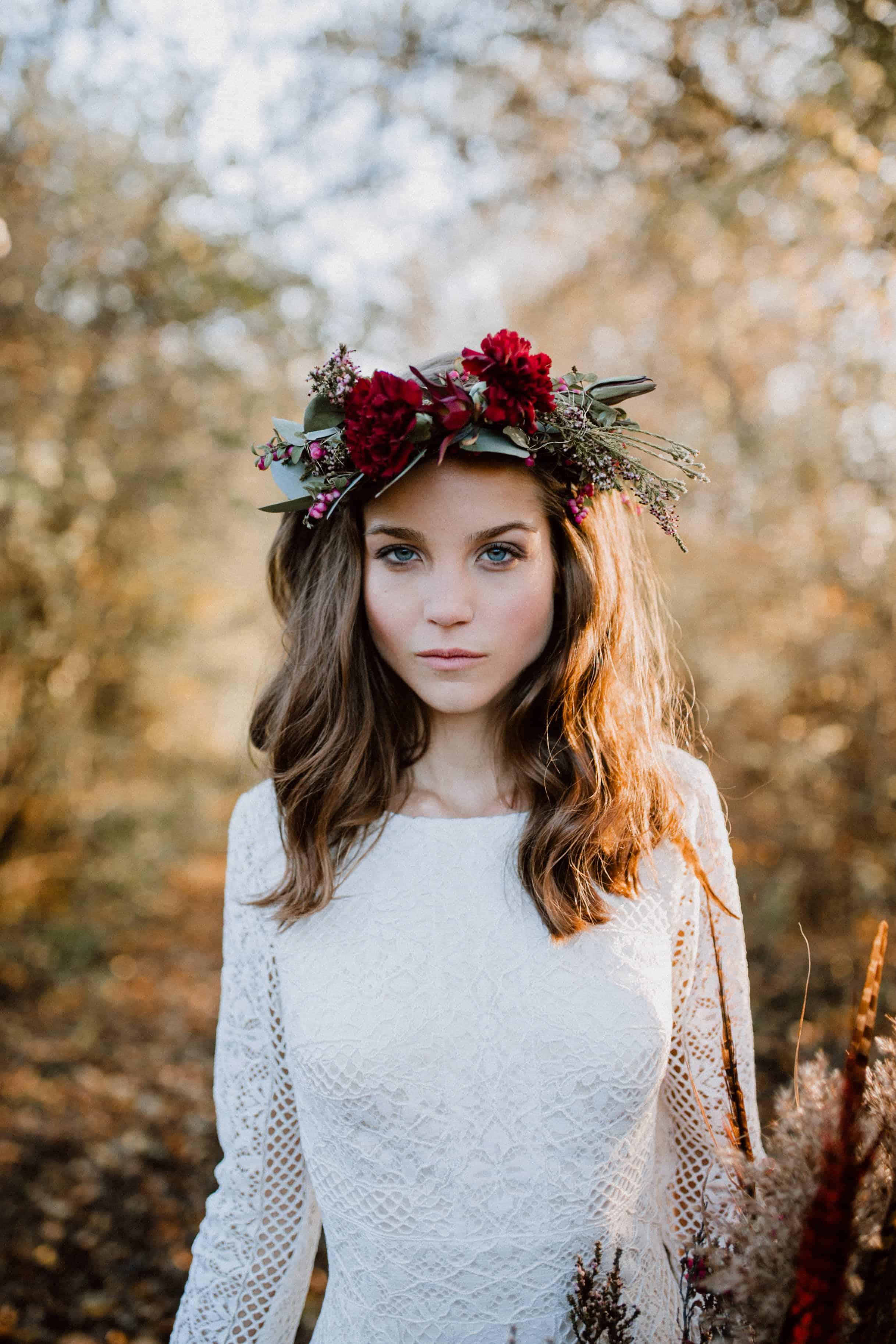Romantischer Blumenkranz zur Hochzeit