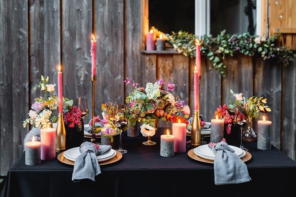 Hochzeitsblumen Tischdeko