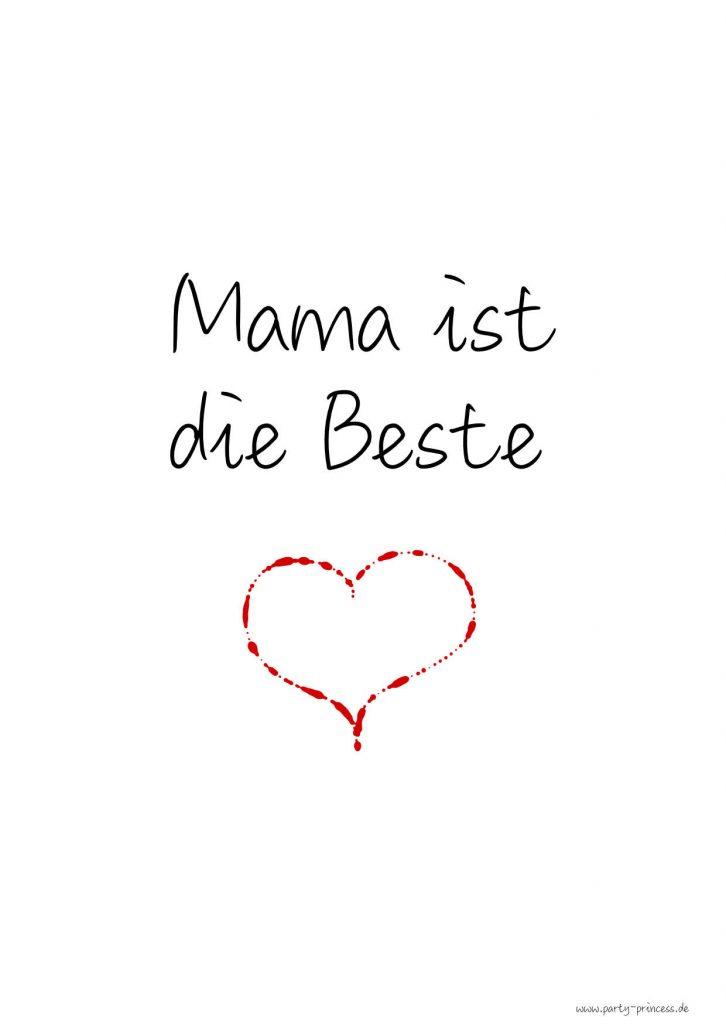 Muttertagskarte Mama ist die Beste