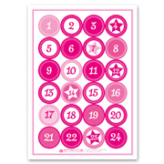 Adventskalender Sticker pink