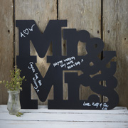 Vintage Affair Kreideschild Mr & Mrs