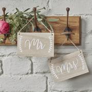 Boho Holztafel Mr & Mrs