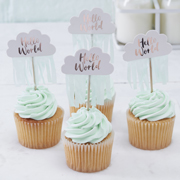 Hello World - Cupcake Topper