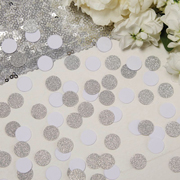 Metallic Perfection - Confetti silber - weiss