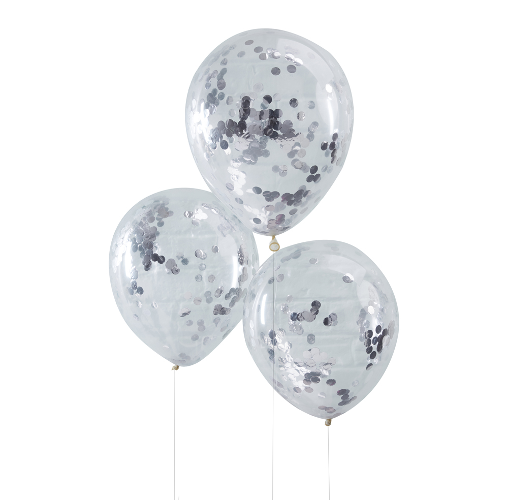 pick mix ballons konfetti silber von ginger ray party princess. Black Bedroom Furniture Sets. Home Design Ideas
