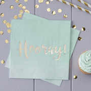 Pastel Perfection - Servietten Hooray mint