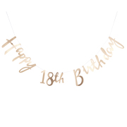 Pick & Mix Girlande Happy 18. Birthday gold