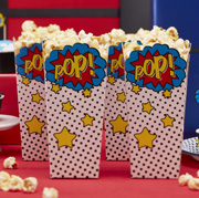 Super Hero Comic Popcorn Boxen
