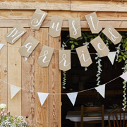 Rustic Country Girlande Just Married