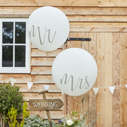 Rustic Country  Riesenballon Mr & Mrs