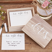 Rustic Country Date Kartenbox aus Holz
