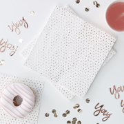 Pick & Mix Servietten rosegold Tupfen
