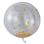 Riesenballon Set Konfetti gold
