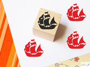 Kukuwaja Mini Stempel Piratenschiff