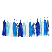 Little Tassel Girlande blau