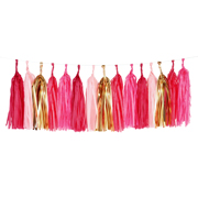 Little Tassel Girlande rosa
