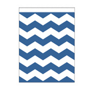 Papiert�ten gross blau Chevron