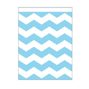 Papiert�ten gross hellblau Chevron