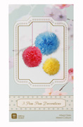 3er Pom Pom Set Bright Mix