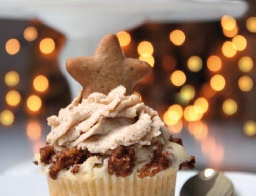 Bratapfel Muffins mit Spekulatius Topping