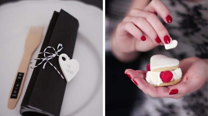 A Valentine Dessert Table