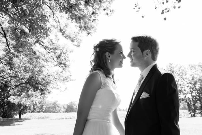 Bild Brautpaar schwarz weiss