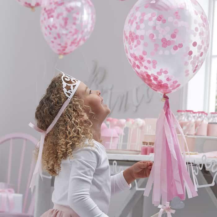 Lutfballon Konfetti rosa