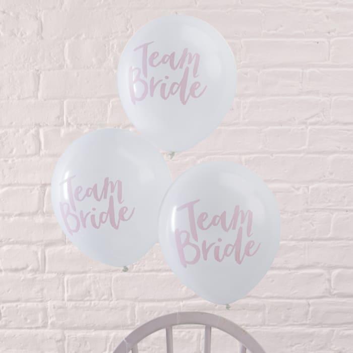Ballons Team Bride Junggesellinnenabschied