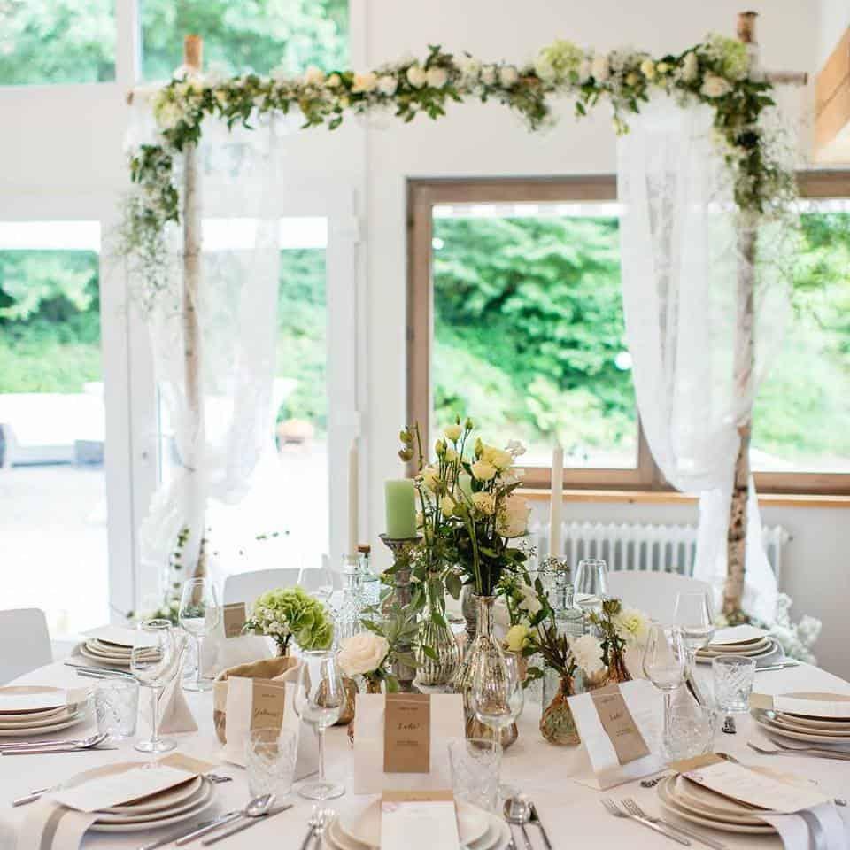 Greenery Blumen Hochzeitsdeko