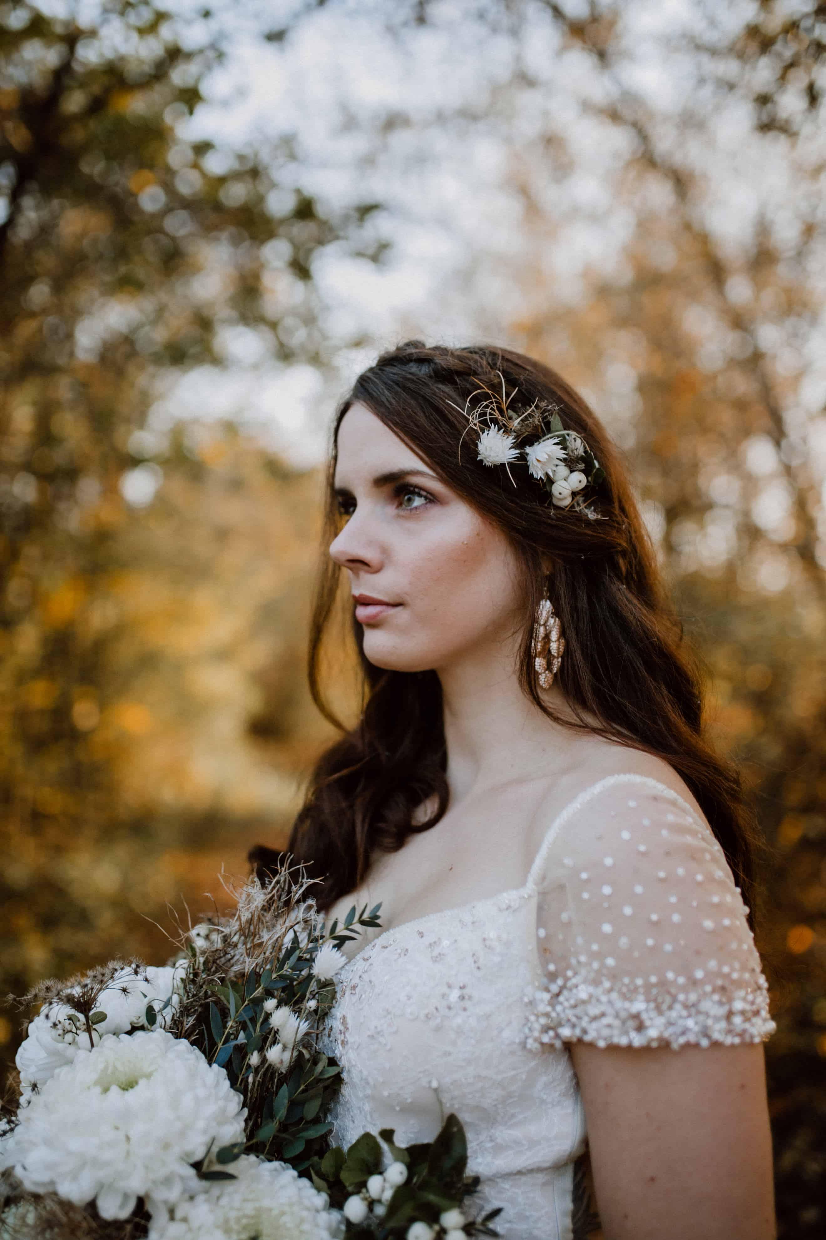 Blumen Haarschmuck Hochzeit