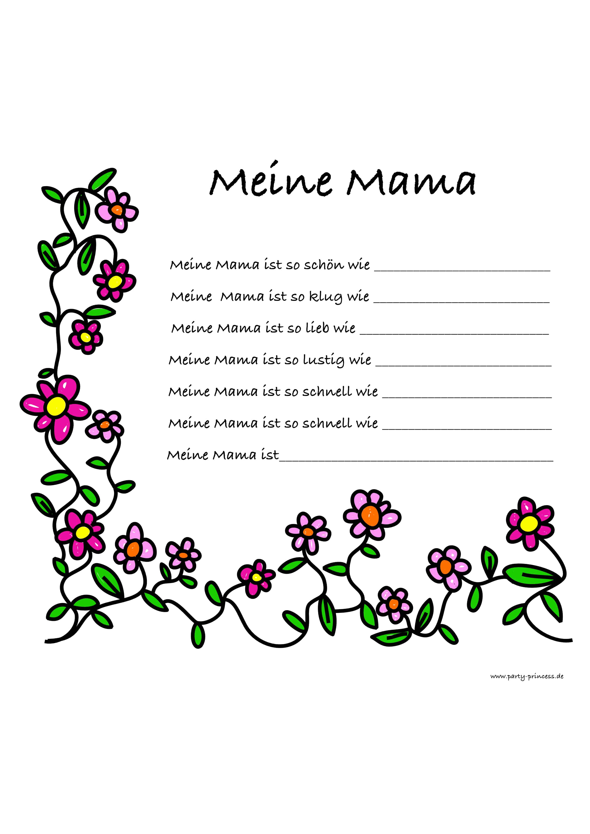 Karte Meine Mama ist