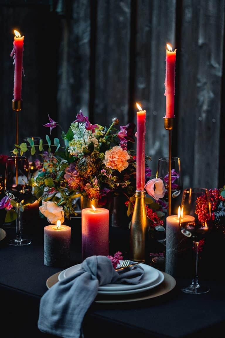 Romantische Blumendeko Hochzeit