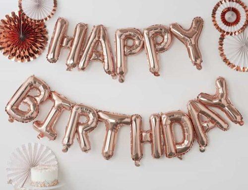 Partydeko in rosegold für Eure Geburtstagsparty