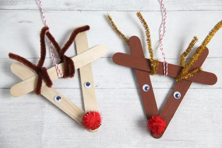 Rentier Weihnachtsbaumschmuck Basteln Einfache Schnelle Anleitung