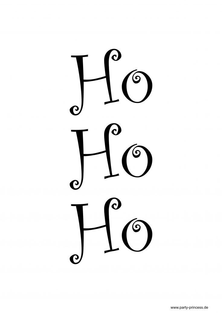 Weihnachtsposter zum Ausdrucken - Ho Ho Ho