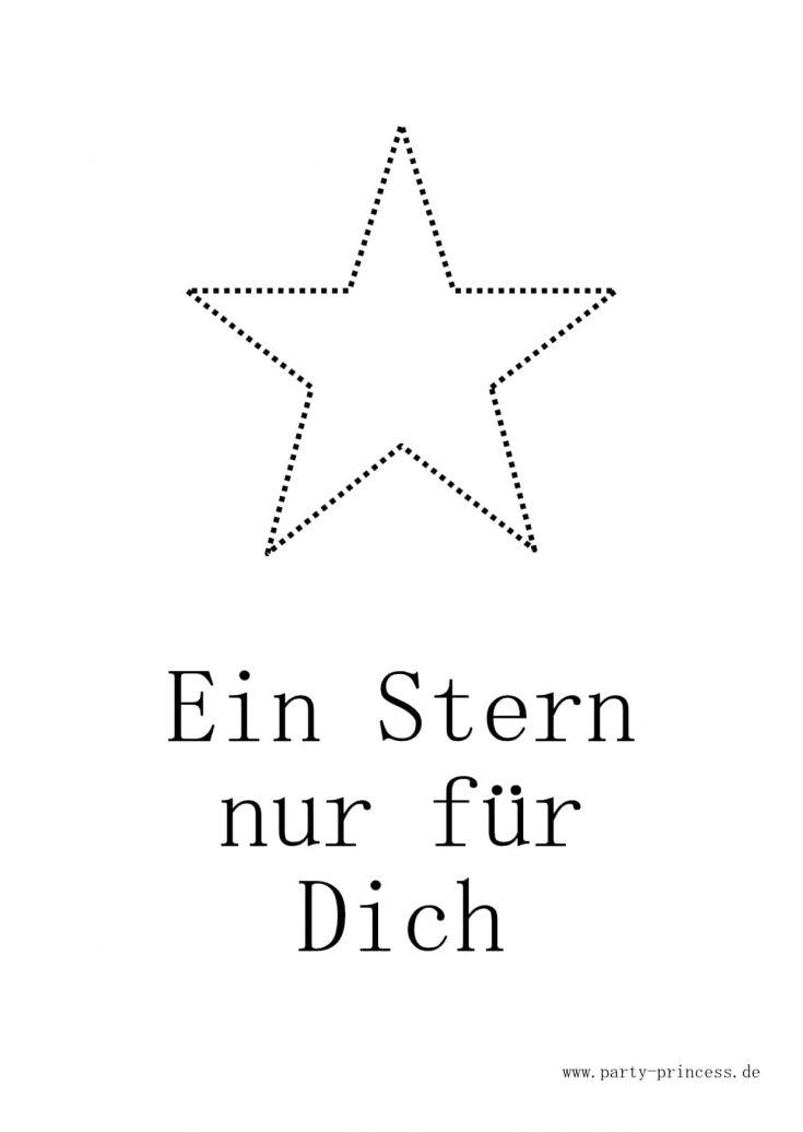 Weihnachtspostkarte zum Ausdrucken - Stern