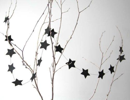 Sternengirlande Basteln für Weihnachten