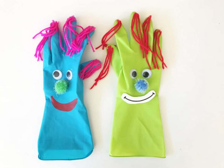 Clown Basteln aus Handschuh