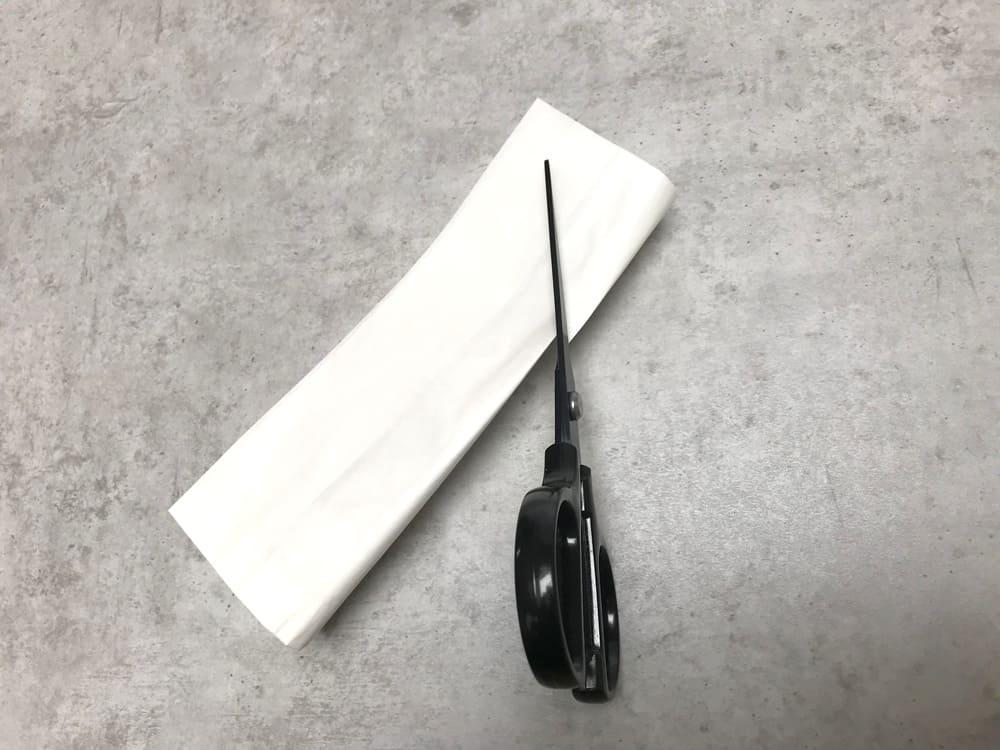Bastelanleitung Ostertüte aus Butterbrotpapier